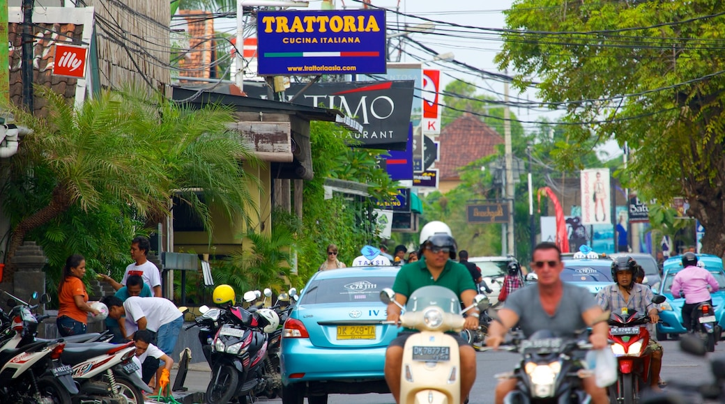 Seminyak featuring a city, motorbike riding and street scenes