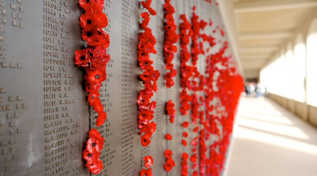 Australian War Memorial which includes flowers and a memorial