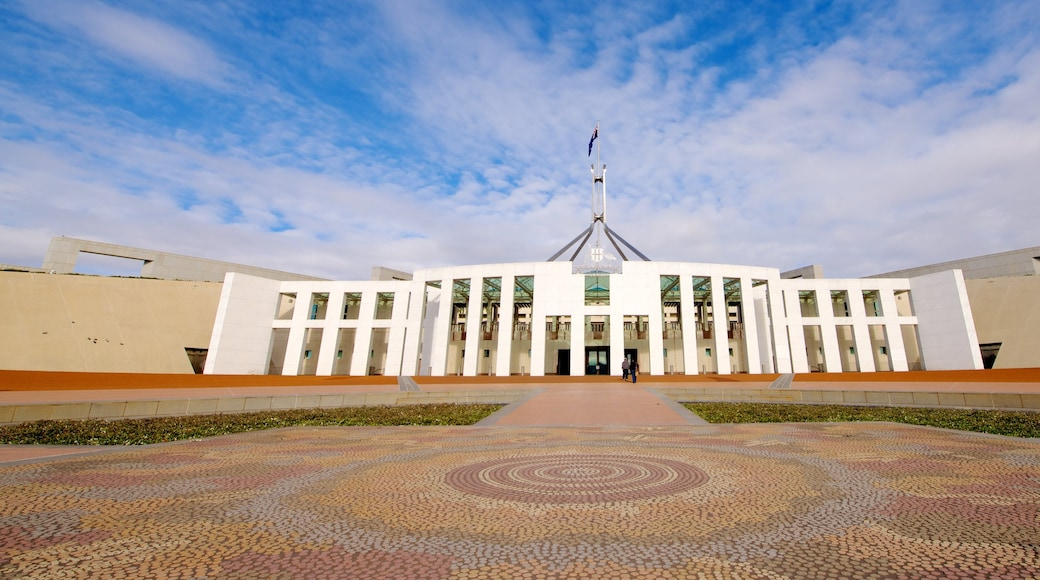 Parliament House showing an administrative building and modern architecture