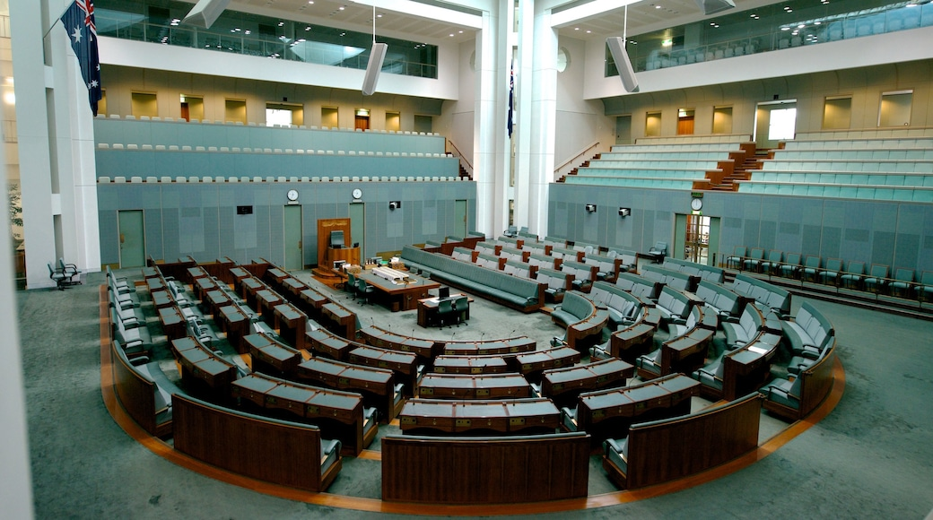 Parliament House which includes interior views, modern architecture and an administrative building