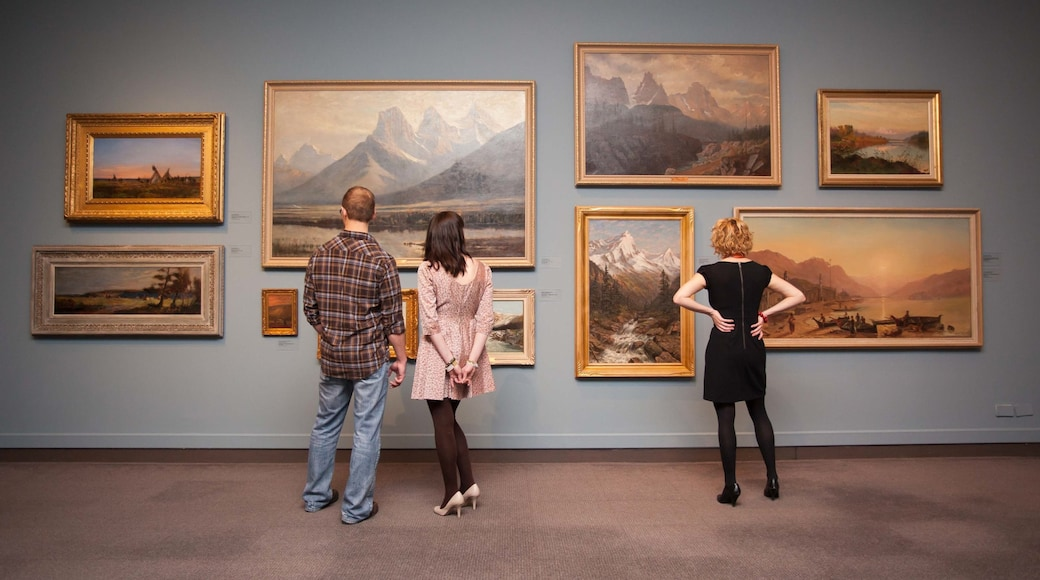 Glenbow Museum which includes interior views and art as well as a small group of people