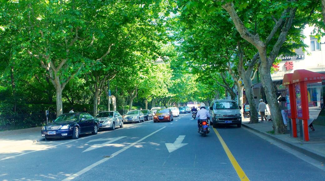 Französische Konzession welches beinhaltet Straßenszenen