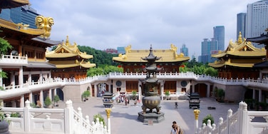 Jing An Temple featuring a temple or place of worship and religious elements