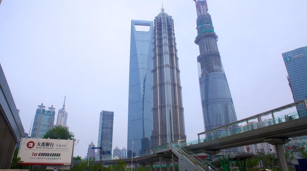 金茂大廈 呈现出 城市 和 城市風景