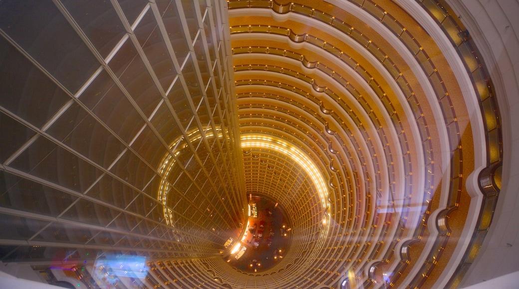 金茂大廈 呈现出 摩天大樓, 內部景觀 和 城市