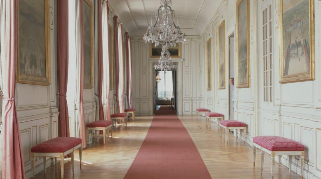 Schloss Nymphenburg welches beinhaltet Innenansichten, Palast oder Schloss und historische Architektur