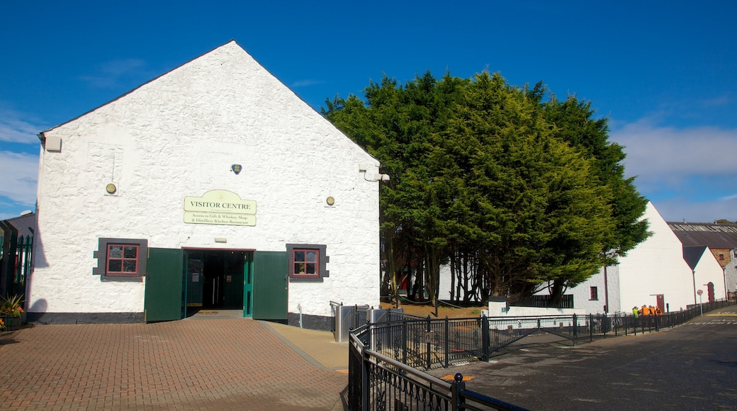 Old Bushmills Distillery which includes heritage elements and street scenes
