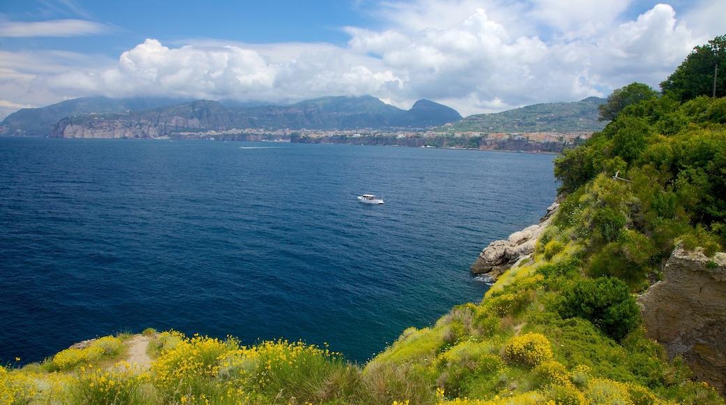 Baths of Queen Giovanna showing rugged coastline