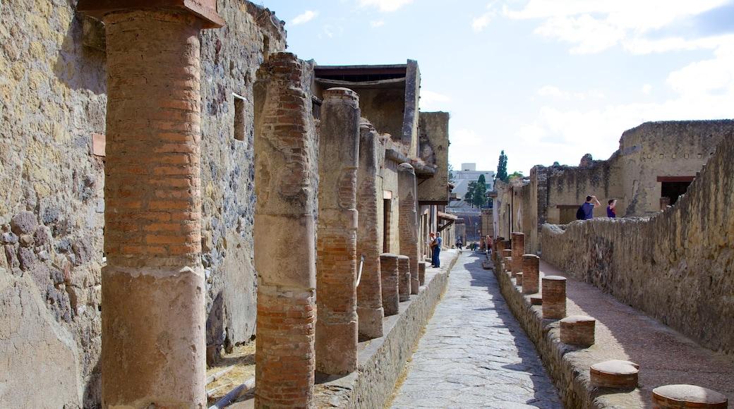 Ercolano caratteristiche di rovine di un edificio e architettura d\'epoca