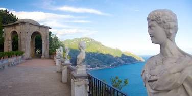 Ravello showing a statue or sculpture, heritage architecture and general coastal views