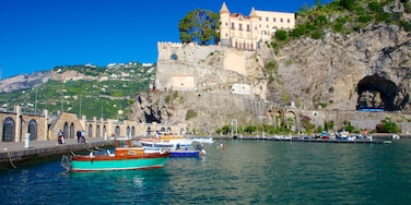 Maiori featuring boating, a coastal town and general coastal views