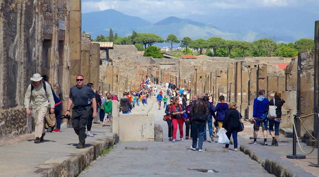 Pompeya ofreciendo escenas cotidianas y también un grupo grande de personas