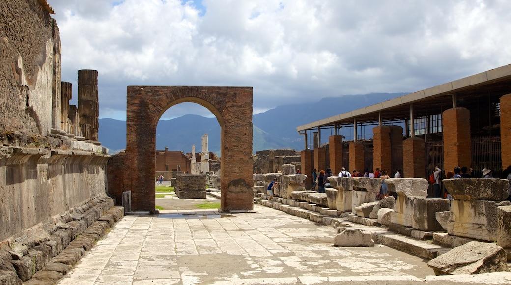 Pompeya ofreciendo una ruina y elementos patrimoniales