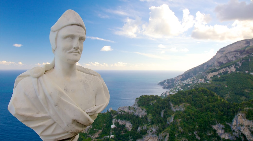 Amalfi Coast showing a statue or sculpture and general coastal views