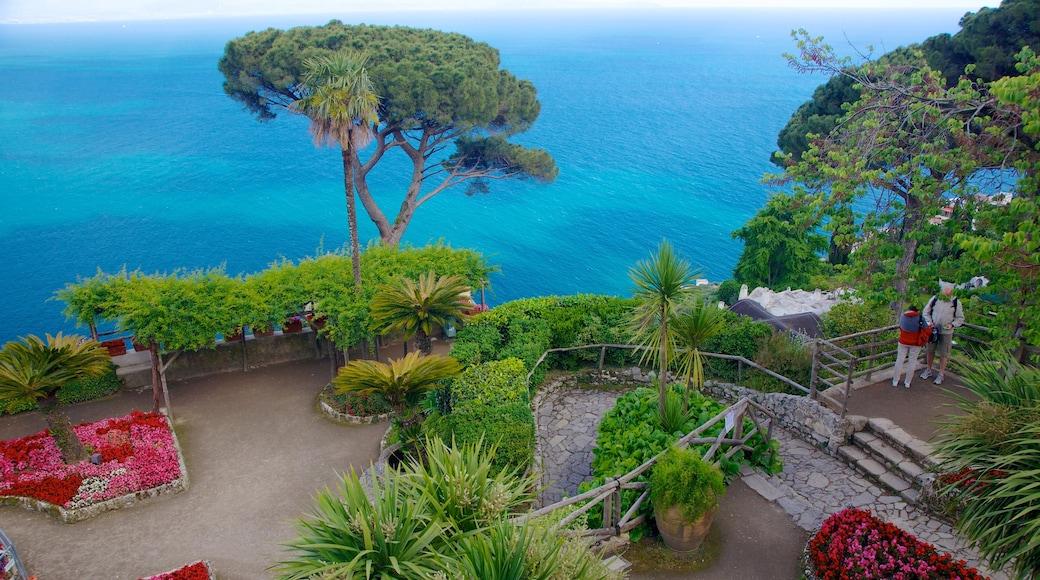 Villa Rufolo featuring general coastal views, a garden and flowers