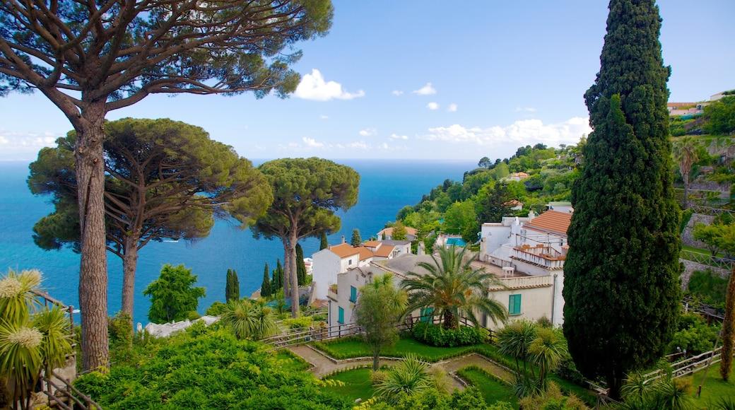 Villa Rufolo which includes a coastal town and general coastal views