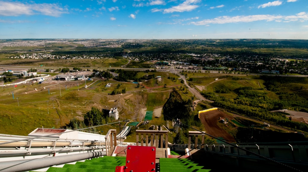 Canada Olympic Park which includes landscape views and a city