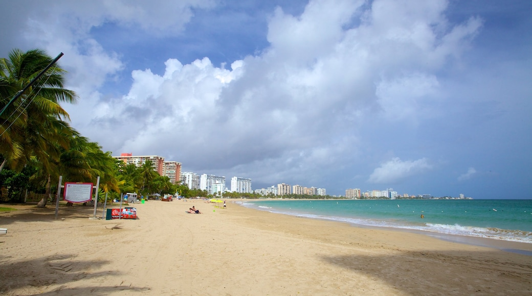 Isla Verde featuring tropical scenes and a beach
