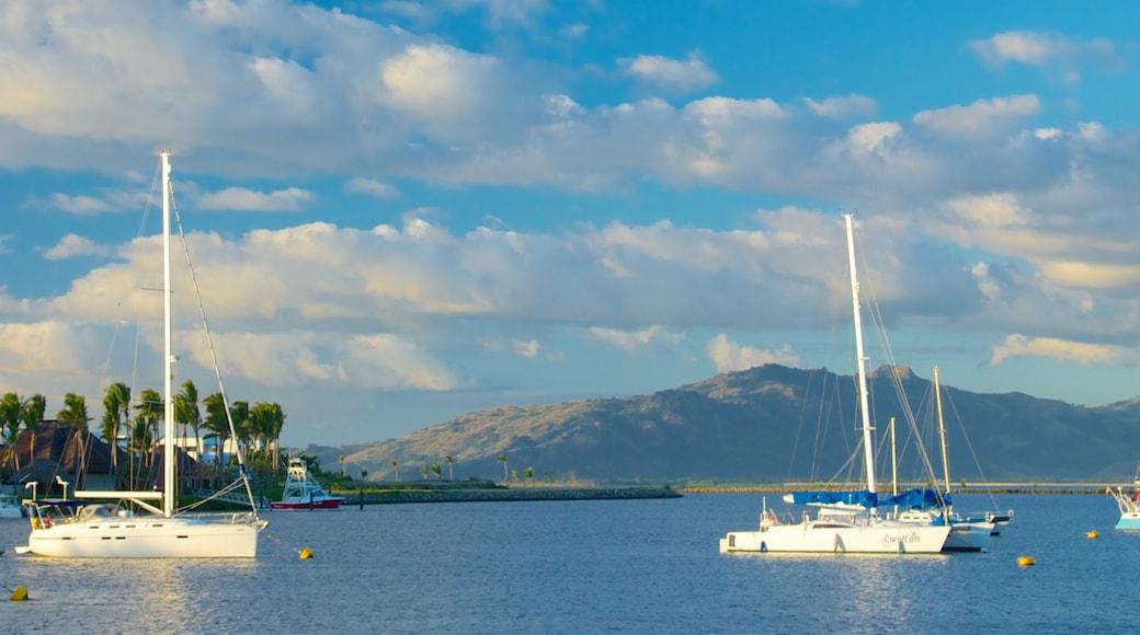 Port Denarau showing boating, general coastal views and sailing