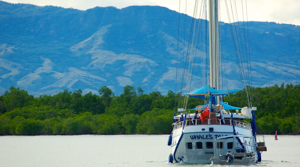 Fiji which includes boating and general coastal views