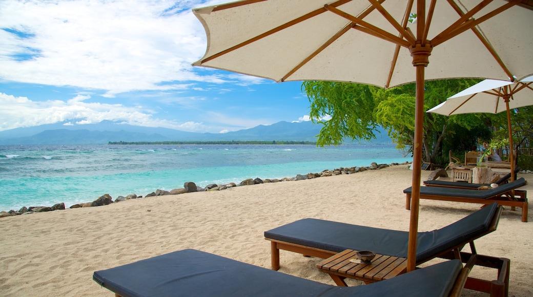 Gili Islands which includes a sandy beach