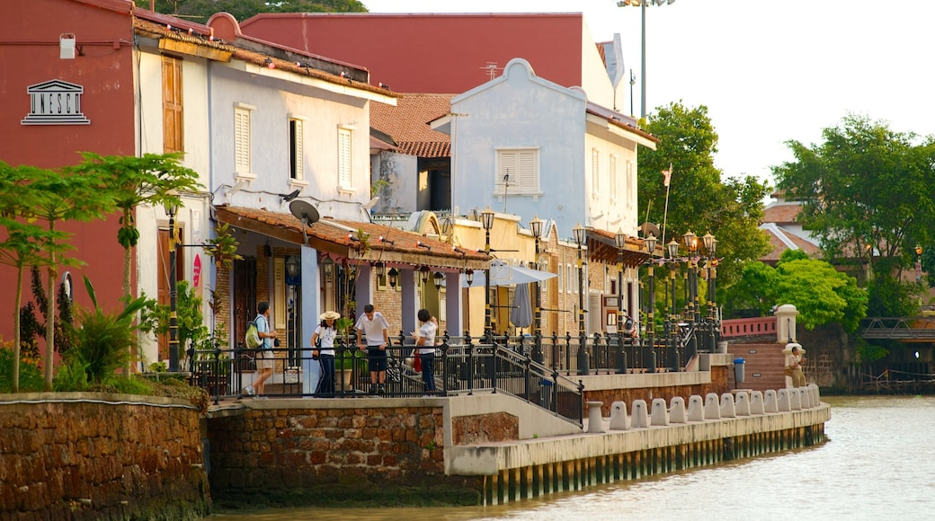 Melaka Historical City which includes a river or creek and a city