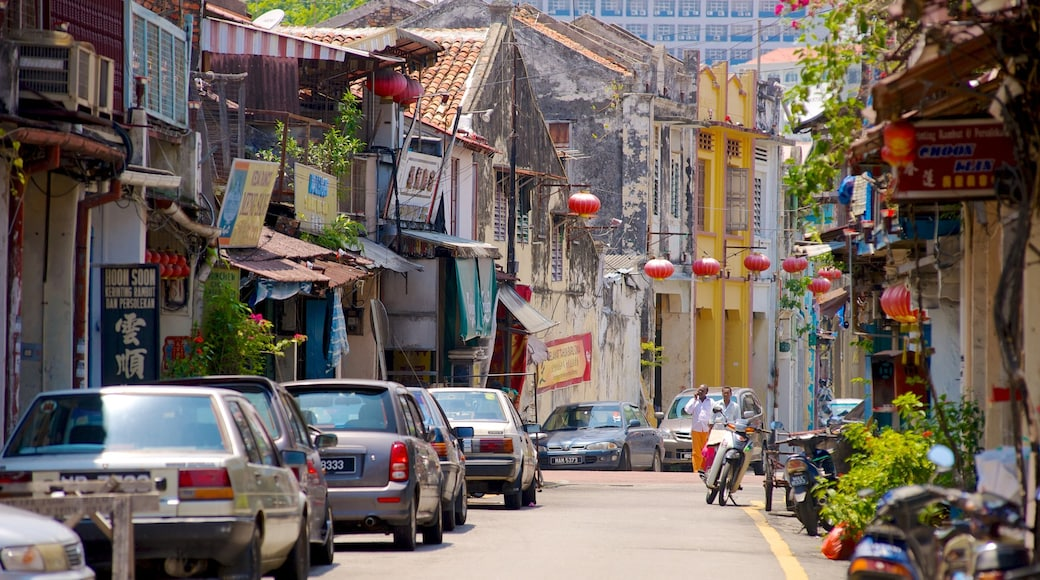 Malacca featuring a city and street scenes