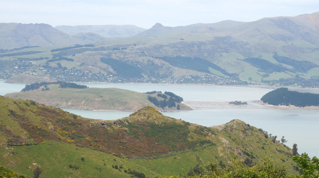 Lyttelton Harbour which includes landscape views, mountains and general coastal views