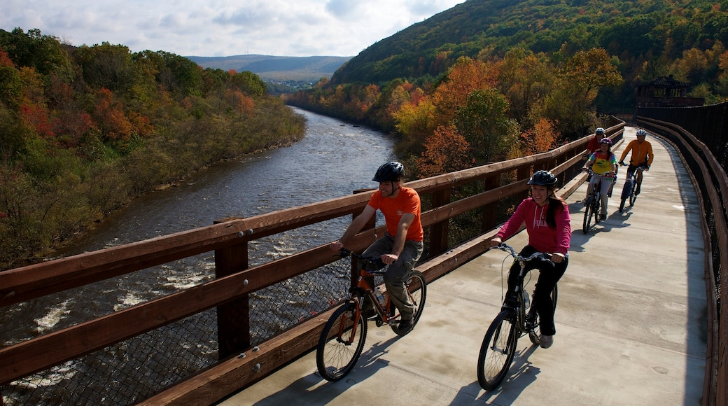 Pocono Mountains which includes cycling, a river or creek and tranquil scenes