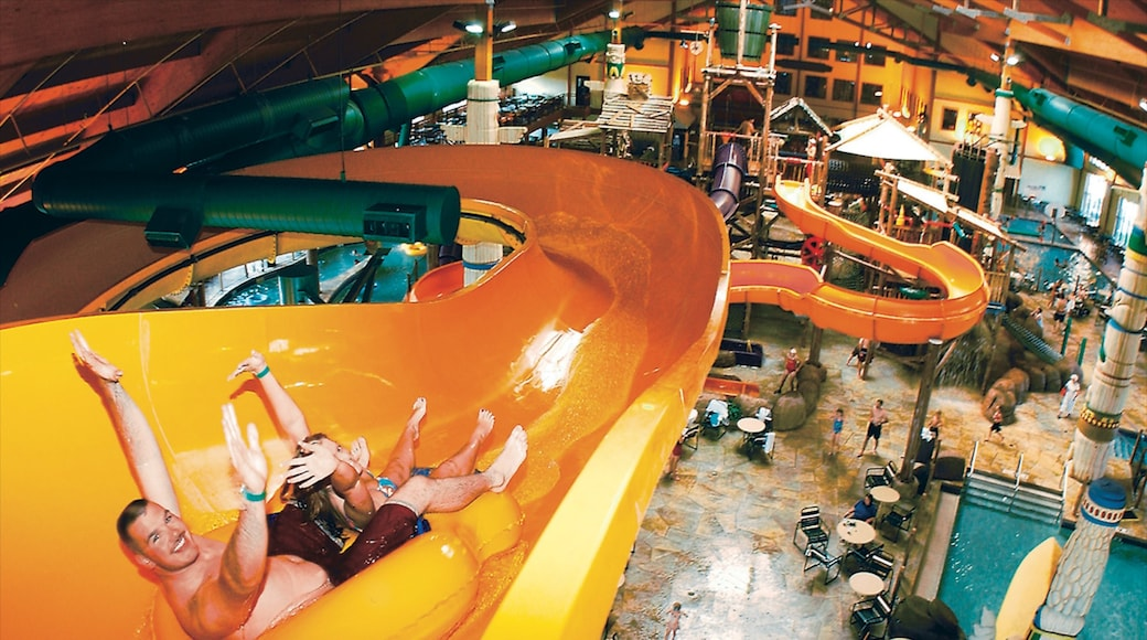 Pocono Mountains featuring interior views, rides and a waterpark