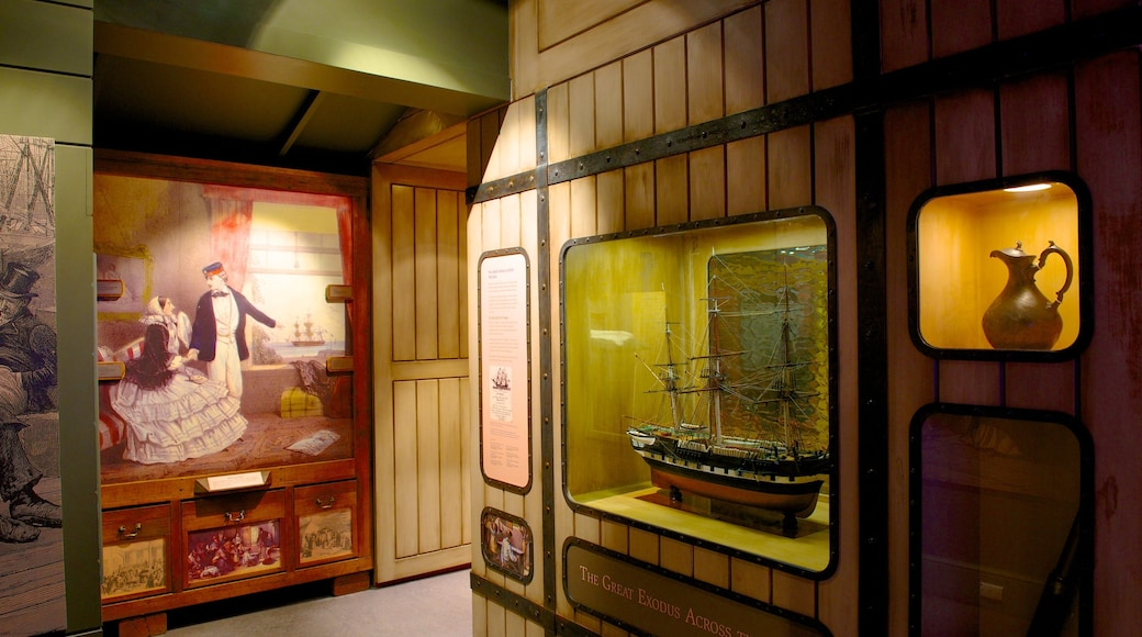 Migration Museum showing interior views