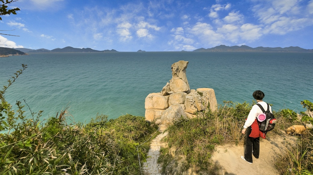 Cheung Chau which includes general coastal views, views and hiking or walking