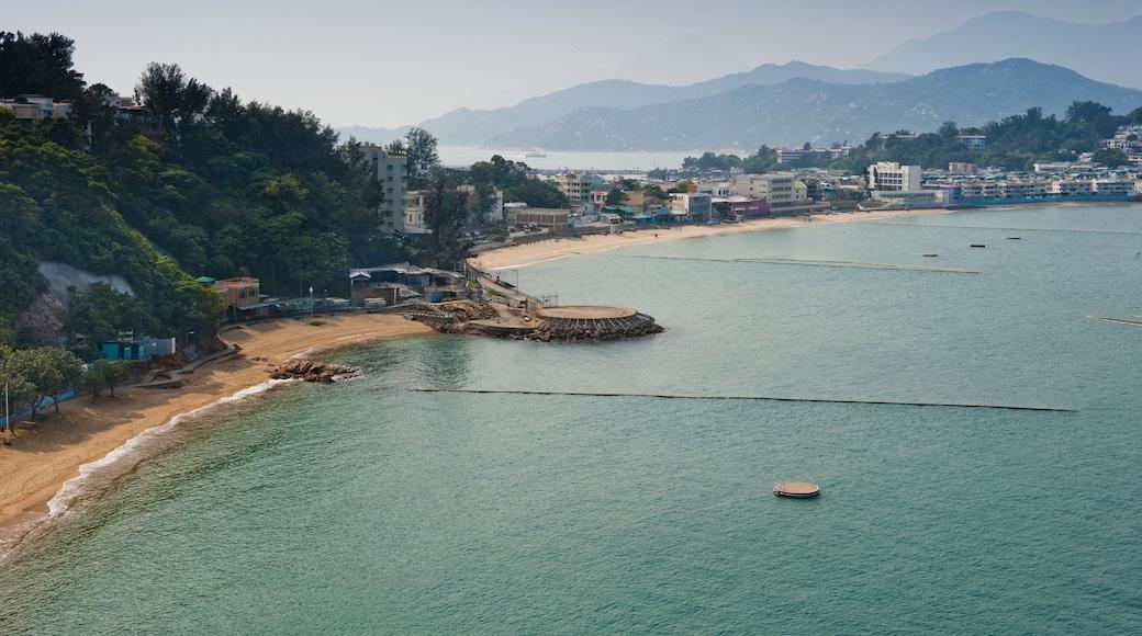 Cheung Chau featuring a coastal town and a sandy beach
