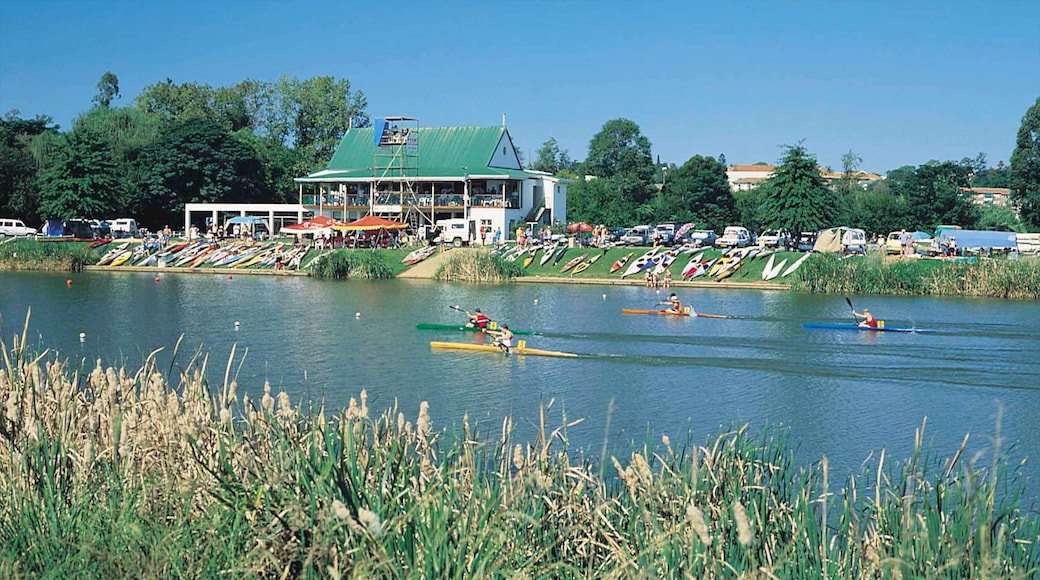Pietermaritzburg showing a coastal town, kayaking or canoeing and a river or creek