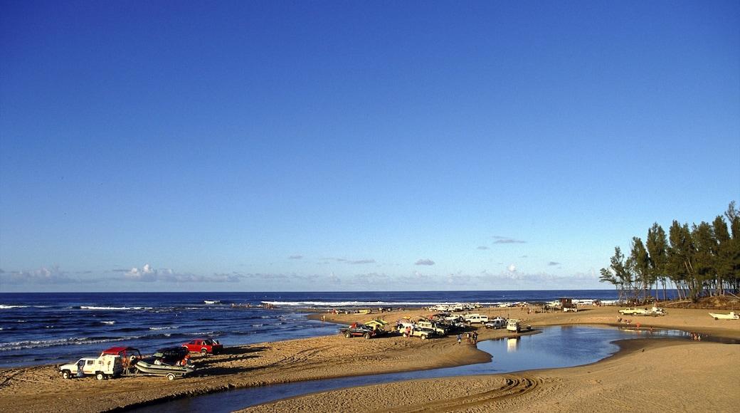 Strand von Sodwana Bay das einen allgemeine Küstenansicht, Skyline und Strand