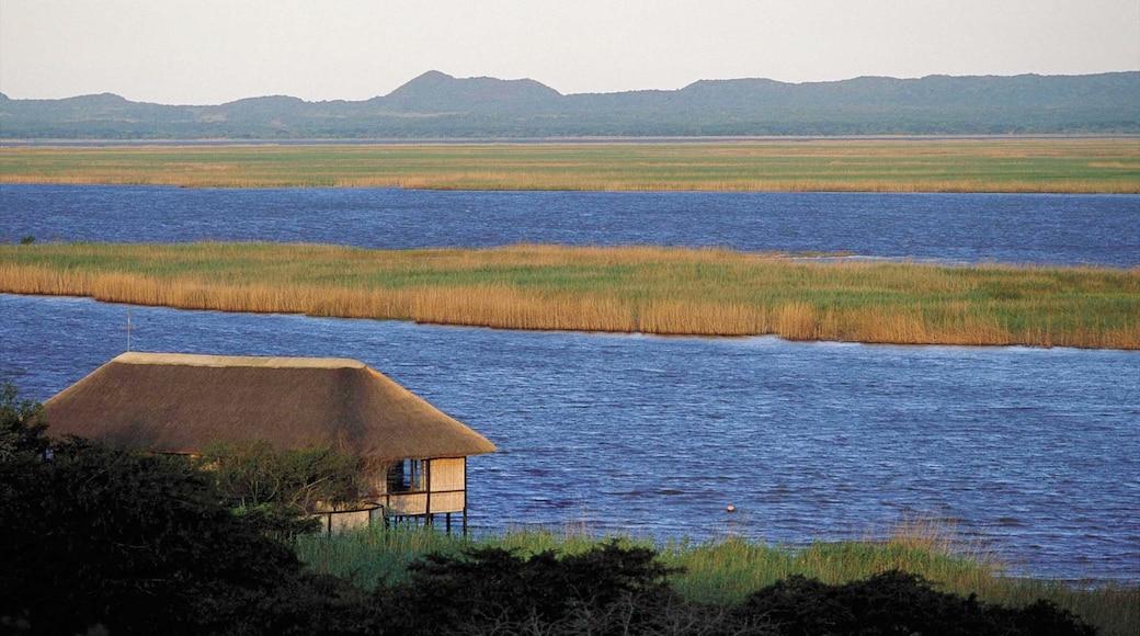 Hluhluwe mit einem ruhige Szenerie, Landschaften und Sumpfgebiet