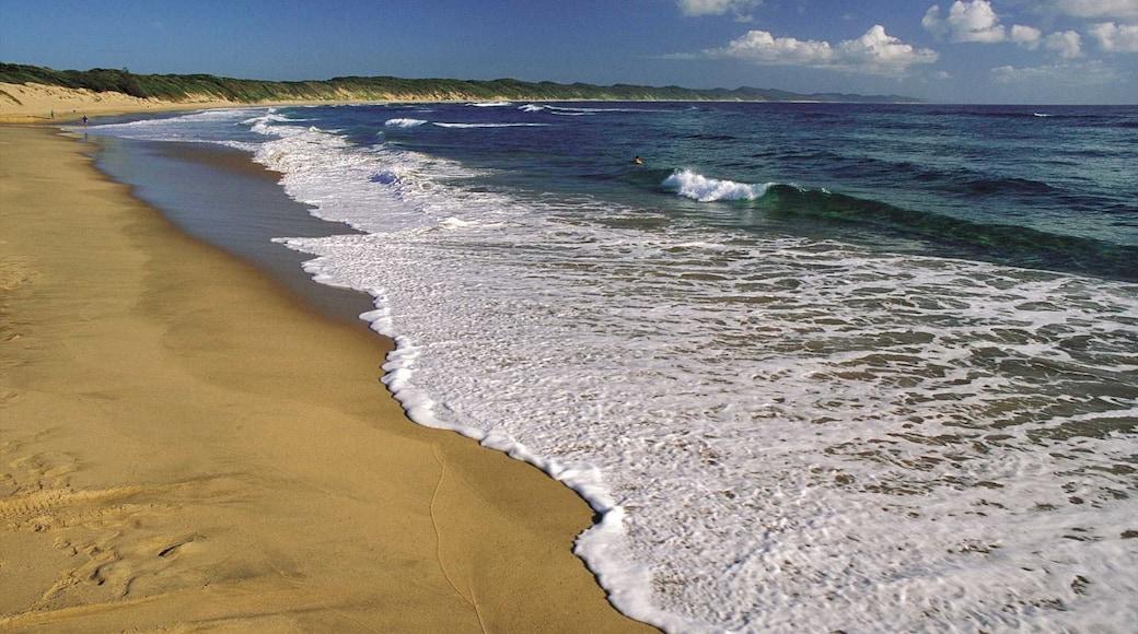 Hluhluwe das einen Strand und Landschaften