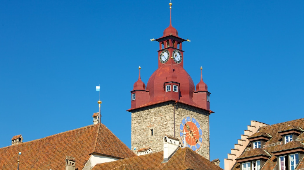 Old Town Lucerne showing religious aspects, a church or cathedral and a city