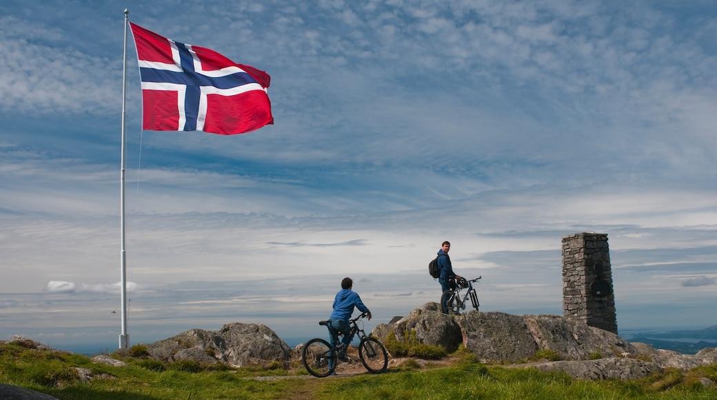 Ulriken Seilbahn mit einem Mountainbiking