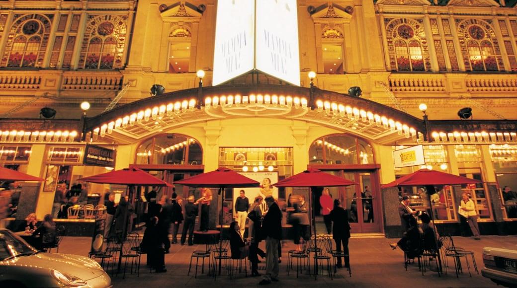 Princess Theatre featuring a city, theatre scenes and street scenes