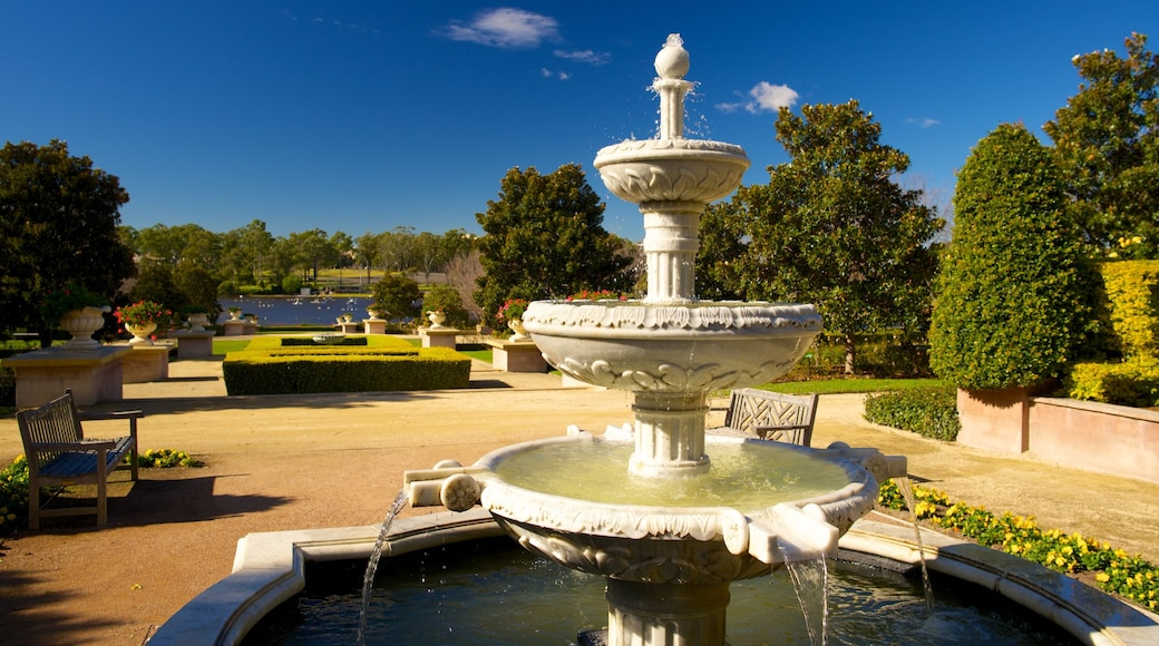 Hunter Valley which includes a garden, a fountain and a pond