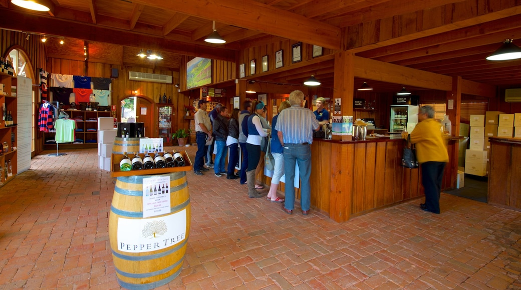 PepperTree Wines which includes interior views as well as a small group of people