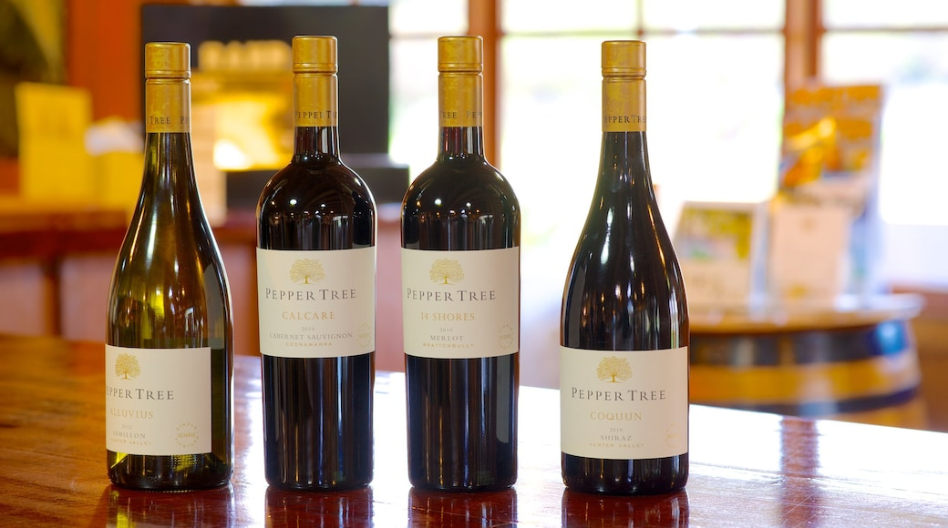 PepperTree Wines featuring signage and drinks or beverages