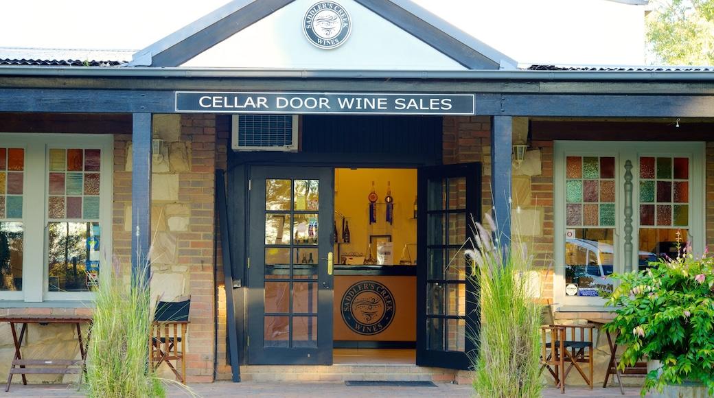 Saddlers Creek Wines featuring signage