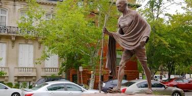 Dupont Circle montrant monument et statue ou sculpture