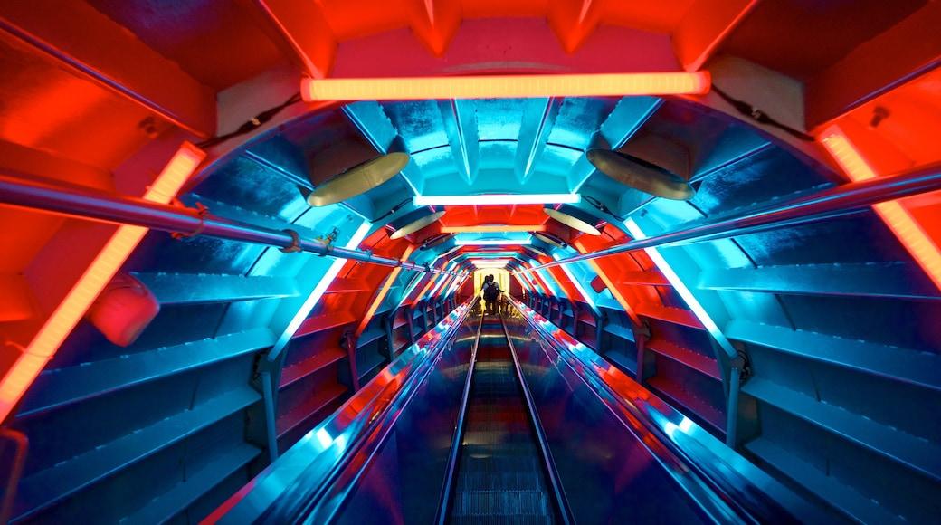Atomium showing interior views