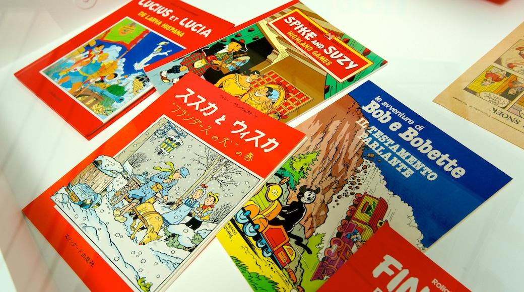 Belgisches Comic-Zentrum welches beinhaltet Beschilderung