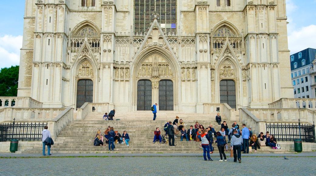 Kathedrale St. Michael und St. Gudula das einen Stadt, Kirche oder Kathedrale und historische Architektur