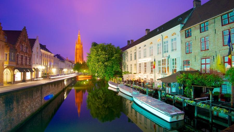 Brugge bevat nachtleven, een huis en een stad