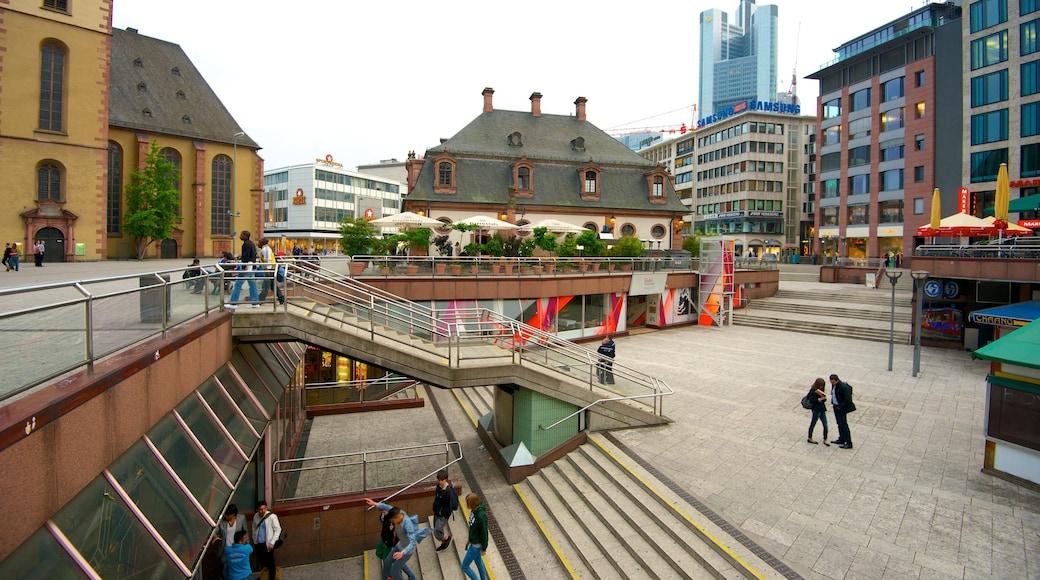 Hauptwache showing a city